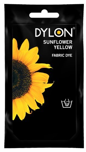 abric Tie Dye used Worldwide by Best Designers, Multi-Purpose, Suitable for Small Natural Fabrics, Permanent and Easy to Apply, Color: Sunflower Yellow, Size: 1.76 oz (50 grams) ()