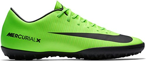 Nike MercurialX Victory VI TF Mens Football Boots 831968 Soccer Cleats (US 10.5, Electric Green 303) (Nike Electric Green Socks)