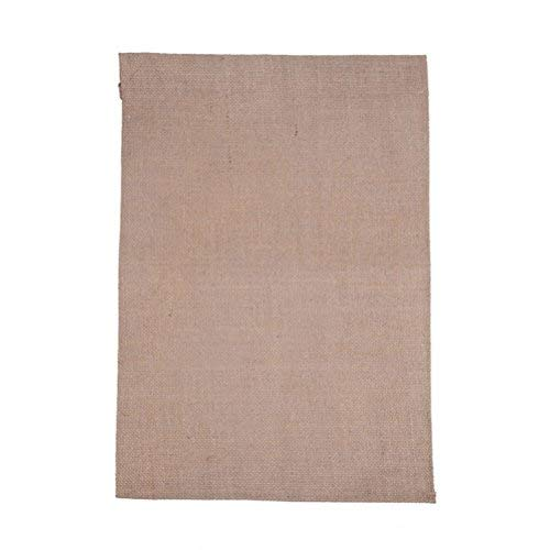 TINKSKY Blank Garden Flag Jute Yard Flag DIY Garden Flag for Festival Wedding Party Decor (Rectangle)]()