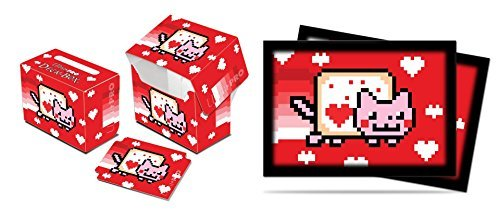 Ultra-Pro ValentNyan Cat Deck Box + 60 Small Sleeves (fits Yu-Gi-Oh, Cardfight Cards)