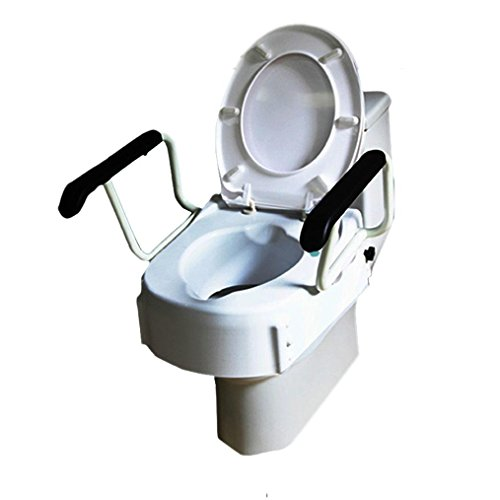 GAOJIAN Elderly Toilet Raised Mats Elderly Postoperative Toilet Toilet Disabled Toilet Seat Stool Chair With High Armrest Bearing capacity of 150kg Old man Toilet Increase the pad by GAOJIAN