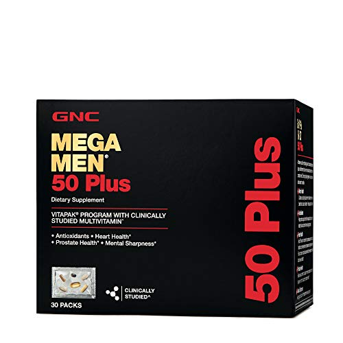 GNC Mega Men 50 Plus Vitapak Program, 30 Packets