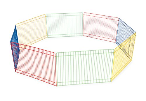 Small Pet Animal Playpen (Prevue Pet Products Multi-Color Small Pet Playpen 40090)