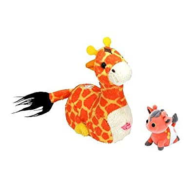 Zhu-Fari Pet & Baby - Zulu the Giraffe: Toys & Games