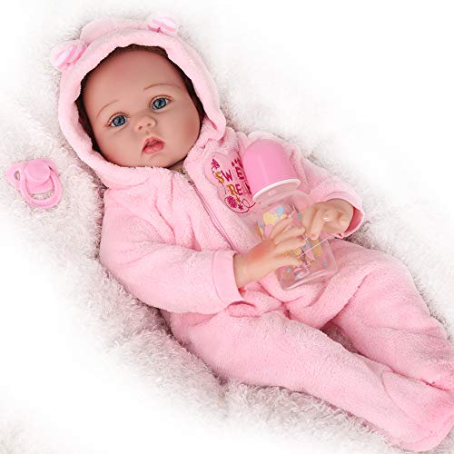 CHAREX Lifelike Reborn Baby Dolls, 22 inch Realistic Silicone Baby Dolls for Girls, Vinyl Silicone Newborn Dolls with Clothes, Gift for Kids Age 3+