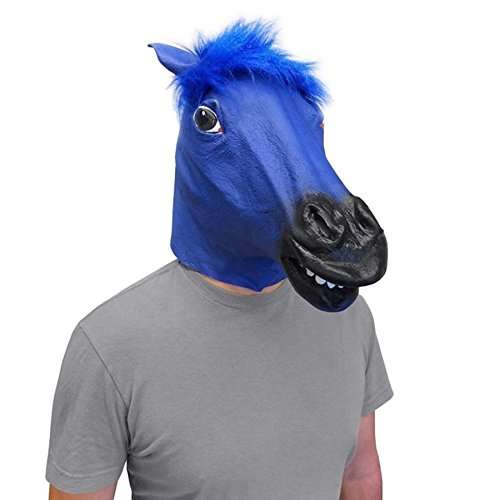 Off the Wall Toys Blue Bronco Horse Head Face Mask (The Original) ()