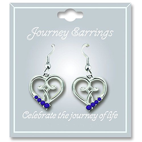 Cathedral Art JE102 February Amethyst Birthstone Earrings