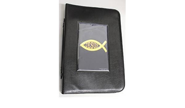 Bible Case Book Cover - Cubierta o Forro de Biblia - Ríos de Agua Viva - Mediana - Imitación Piel con Cierre - Color Negro: N/A: Amazon.com: Books