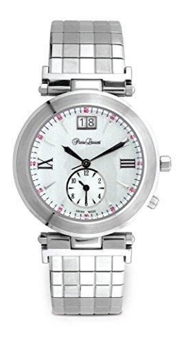 Pierre Laurent Unisex TRAVELLERS 2 36mm Swiss Watch w/ Date, 22221