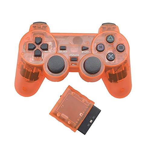 2.4G Wireless High Vibration Game Controller Wireless Gamepad Joystick Home Computer Gamepad (Color : Orange)