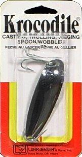 Luhr Jensen Krocodile Spoon, Chrome, 1-Ounce (Lure Jensen Fishing Lures)