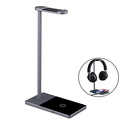 T.Face 2 in 1 over-ear Headphone Stand Rack Earphone Bracket Hanger Wireless Charger charging for Samsung S7 S6 S7 Edge S6 Edge by T.Face