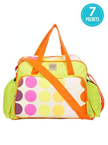 Mee Mee Multipurpose Diaper Bag  With Changing Mat, Multi Green