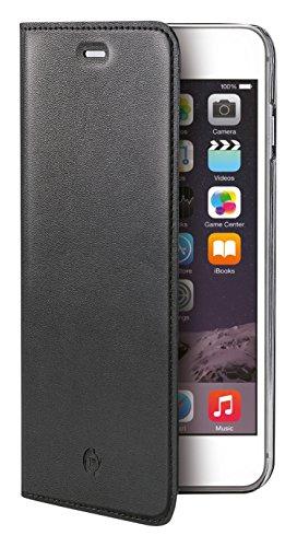 Celly BUDDYIP6SPBK Buddy Ledertasche mit abnehmbare Cover für Apple iPhone 6 Plus/6S Plus schwarz