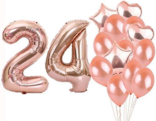 Amazon.com: Sweet 24th cumpleaños decoraciones suministros ...