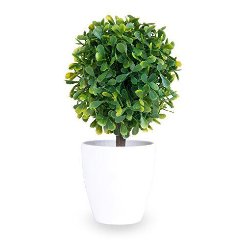 Fake Plant: artificial plant, for office, home, garage, patio, garden, work - Great for indoor and outdoor, made with plastic, green leaves, pottery, shrub, vine, by Truly Artificial