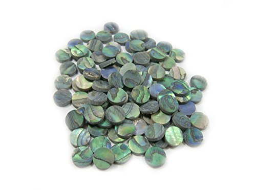 Used, Yuan's 100 Pieces 6mm Round Green Abalone Fretboard for sale  Delivered anywhere in USA