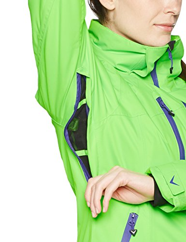 Black crevice Chaqueta de esquí para mujer Verde / Morado