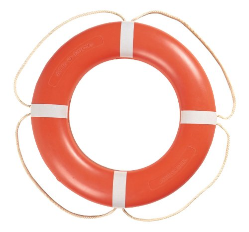 Taylor Made Products 570002 Aer-O-Buoy Canadian Coast Guard Approved Boat Life Ring (24'', White) by TAYLOR MADE PRODUCTS
