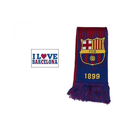 (Fc Barcelona Scarf Reversible New Season and Sticker (Maroon))