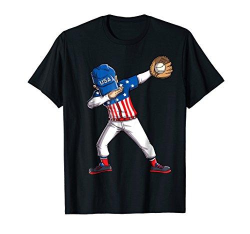 Baseball Dabbing T Shirt USA Merica 4th of July Dab Dance