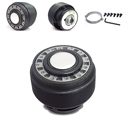 - Black 6-Hole Racing Steering Wheel Hub Adapter For Integra DC2/Civic EG EH EJ/DelSol