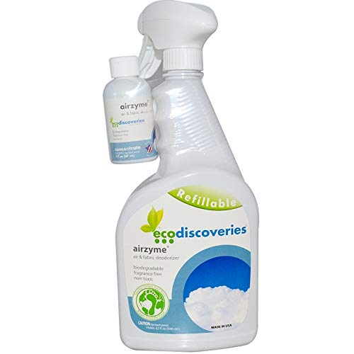 ecoDiscoveries, Airzyme, Air & Fabric Deodorizer, 2 fl oz (60 ml) Concentrate w/ 1 Spray Bottle(2 Packs)+Sundesa, Blender Bottle, Classic with Loop, 20 oz by ecoDiscoveries (Image #2)