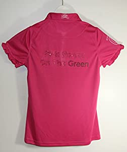 Kissi Couture Little Girls Golf Polo Shirt with Green Bling