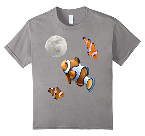 Kids Clown Fish Shirt Vintage 90s Themed Cool T Shirt. 10 Slate (90s Themed Clothes)