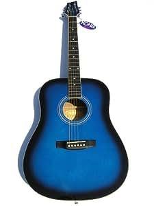 kona acoustic guitar blue burst trans finish musical instruments. Black Bedroom Furniture Sets. Home Design Ideas