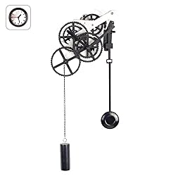 FDYD Gear Pendulum Wall Clock, Mechanical Silent Gear Clock,with 3D Moving Gears Home Decor