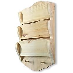 Good Wood WoodworksTM Wooden Letter Organizer Filer Sorter Rack Unfinished Oak Made In The U.S.A