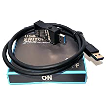 USB ON/OFF SWITCH for USB 3.0 & 2.0 with extension cord // HmbG - 1402