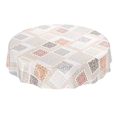 Mantel de hule modelo Shabby Nordic; lavable, diseño patchwork, toalla, Beige Hellbraun, 100 x 140cm: Amazon.es: Hogar