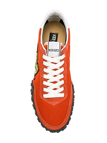 Kenzo Sneakers Uomo F005SN122F5621 Pelle Arancione