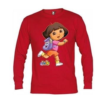 Mx Games Camiseta Dora Exploradora roja Manga Larga (Talla: 7-8 ...