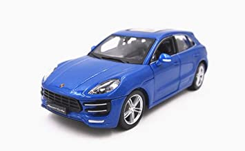 Porsche Macan Turbo Blue 1/24 by BBurago 21077