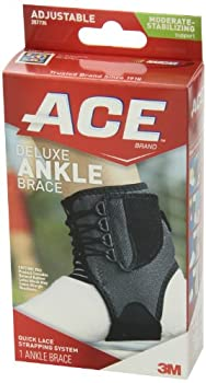 Ankle Brace, Deluxe, Adjustable, Moderate-Stabilizing Support 1 ct (Pack of 2)