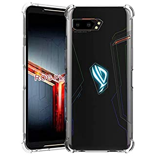 DagoRoo Compatible with ASUS ROG Phone 2 Crystal Clear Case, Slim Flexible Shock Absorption Cover for ASUS ROG Phone II ZS660KL (6.59 inch) 2019 (Clear)