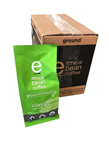 Ethical Bean Coffee - Classic Ground Coffee 8 oz (Pack of 6)
