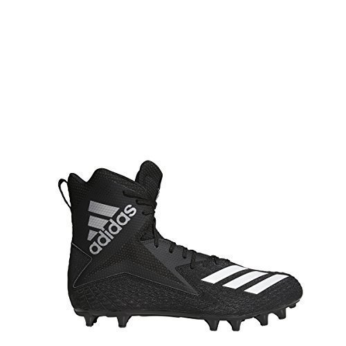 adidas Men's Freak High Wide Football Cleats (15, Black/White/Black) by adidas