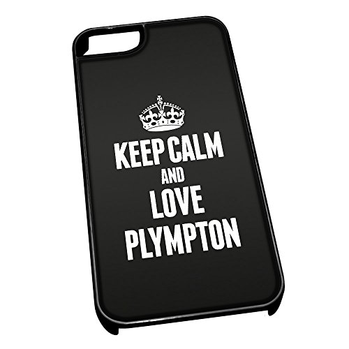 Cover per iPhone 5/5S 0497 Nero Keep Calm And Love Plympton