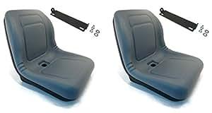 (2) asientos de respaldo alto gris con soporte de varilla pivotante John Deere Gator 4 x 2 6 x 4 diésel de The ROP Shop