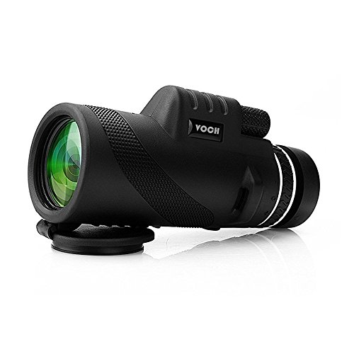 Monocular Telescope, 10X42 Dual Focus Prism Film Optics, Tripod Capable, Waterproof, Low Night Vision, Monocular Scope for Birdwatching/ Hunting/ Camping/ Hiking / Golf/ Concert/ Surveillance