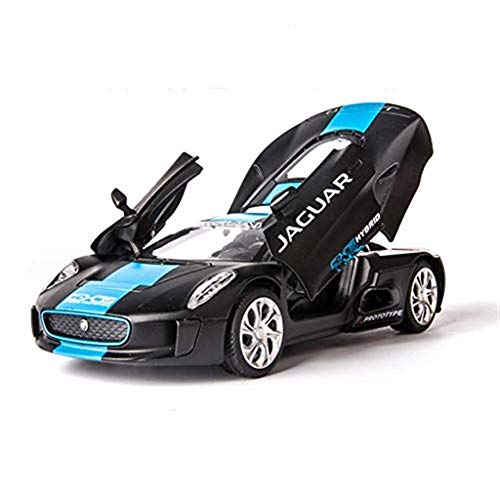 GHMHJH 1:32 C-X75 Jaguar Model Metal Alloy Sports Car Model Simulation Ornaments Adult Toy Scale Model Simulation Car (Color: Blue) (Stores That Sell 1 18 Scale Diecast Cars)