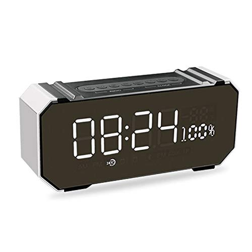 xingganglengyin Private Mode Alarm Clock Bluetooth Speaker Aluminum Wireless car subwoofer Computer Audio Radio by xingganglengyin (Image #3)