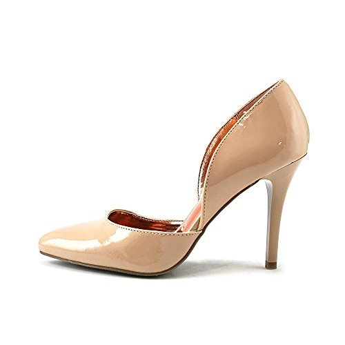 Material Girl Womens LEXY Pointed Toe Dorsay Pumps Nude Size 6.5