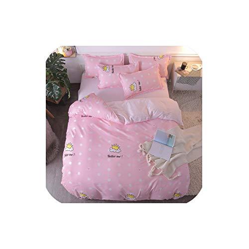 LOVE-JING Pink Leopard Print Home Bedding Sets Duvet Cover Bed Set Pillowcase Flat Sheet King Queen Double Full 4Pcs Twin 3Pcs Bed Sheet,17,Queen Cover 200By230 (Lego Queen Sheet Set)