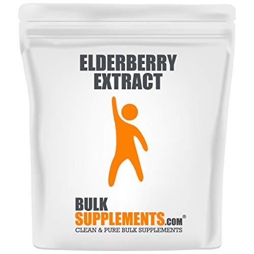 BulkSupplements.com Elderberry Extract Powder – Smoothie Powder – Elderberry Sambucus – Immune System Booster…