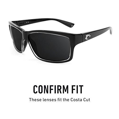 Costa Titanio Mirrorshield repuesto Elite — múltiples Revant Lentes de Polarizados Opciones para Cut IqqR16